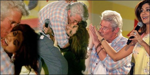 Richard Gere Kisses Shilpa Shetty