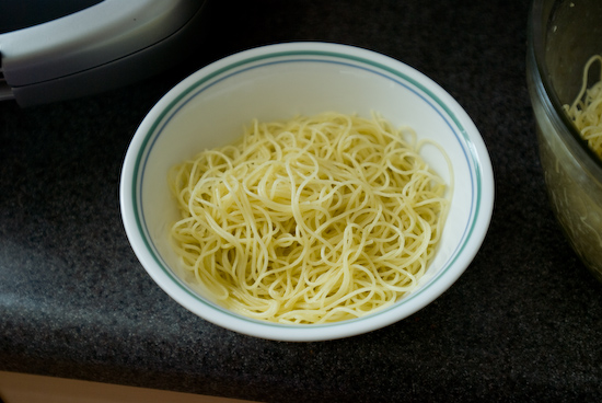Capellini with Olive Oil and Garlic