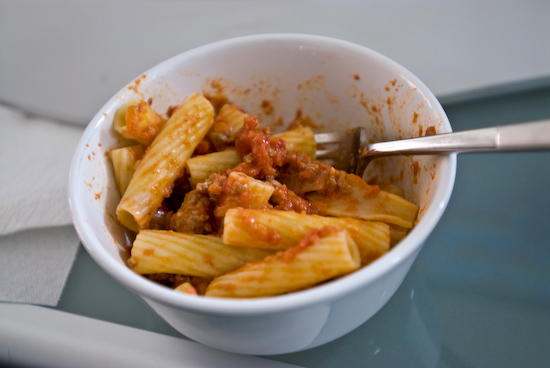Rigatoni and Meat Sauce