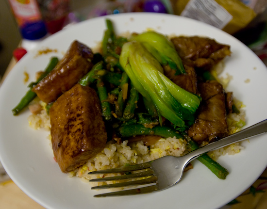 China Stix - Hunan Family Style Tofu, Shanghai Spareribs, and Green Beans