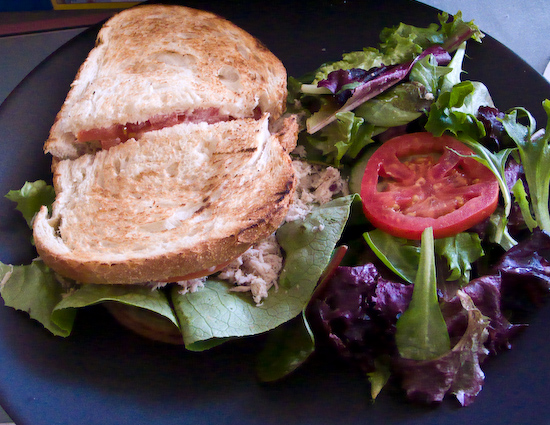 Crossroads Cafe - Cold Tuna Sandwich with Salad