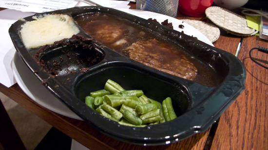 Microwave Hungryman Salisbury Steak Dinner