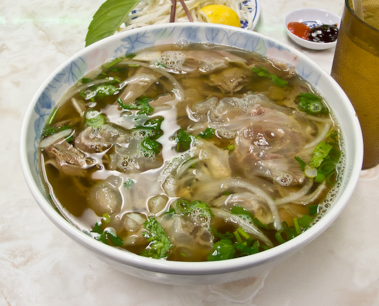 Pho Thanh Long Restaurant - Pho with Well-Done Beef Brisket, Flank, and Tendon