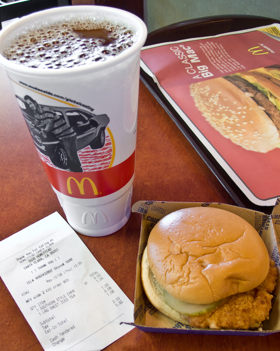 McDonald's - Southern Style Chicken Sandwich and Sweet Tea