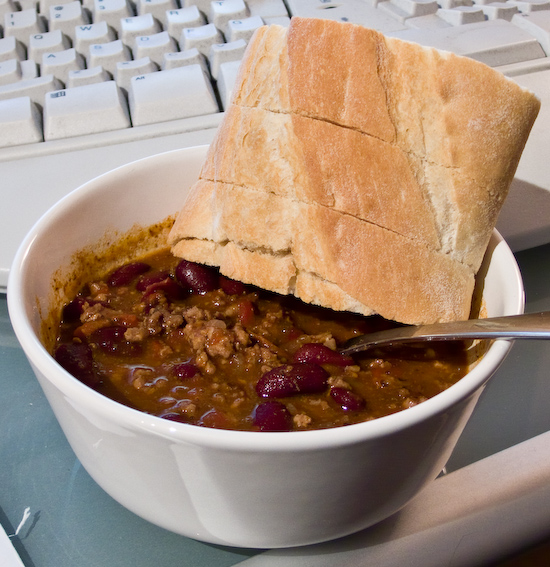 Chili and Bread