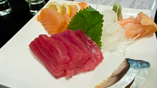Sozai - Salmon, Yellowfin Tuna, Mackerel Sashimi