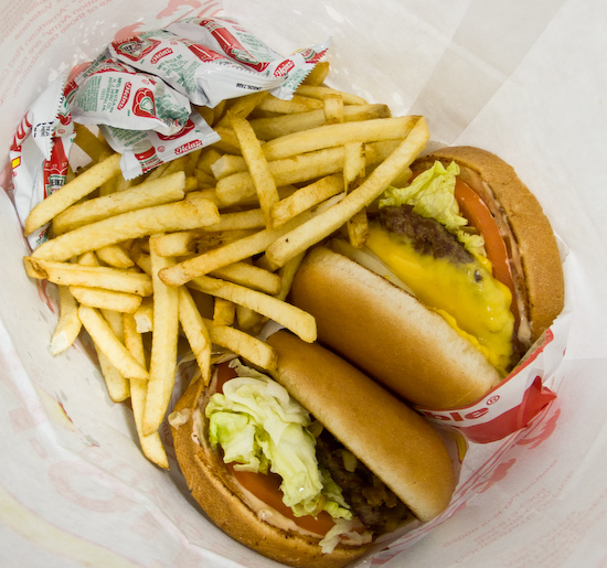 In-N-Out - Double Double, Hamburger, and Fries