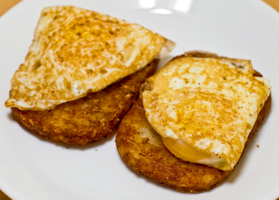 Hash Browns and Fried Eggs