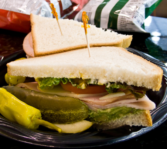 Fry's Electronics - Turkey and Avocado sandwich