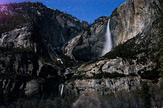 Yosemite Falls at Night (Yosemite National Park, California)