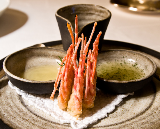 The Dining Room at the Ritz-Carlton - Fried Spot Prawns
