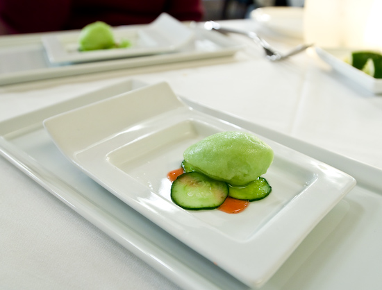 Alexander's Steakhouse - Intermezzo of Cucumber Sorbet