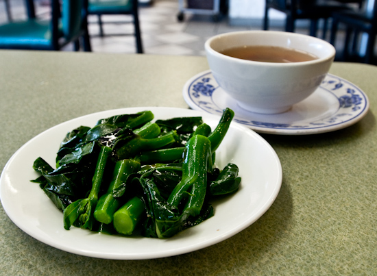 Won Ton House - Chinese Brocolli and Soup