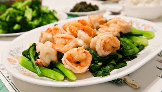Shrimp with Chinese Broccoli