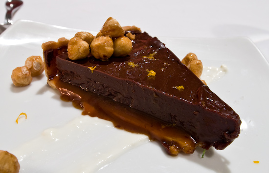 Zoot - Chocolate hazelnut tart with creme fraiche