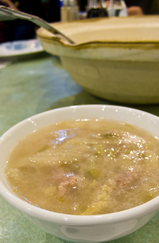 Ma's Restaurant - Clay pot soup with beef and suan cai