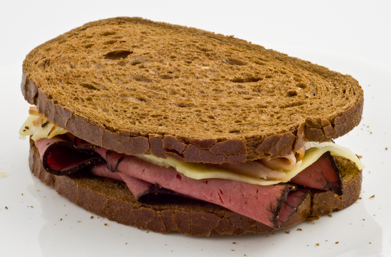 Pastrami, Turkey, and Swiss on Rye
