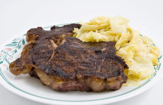 Steak and Cabbage