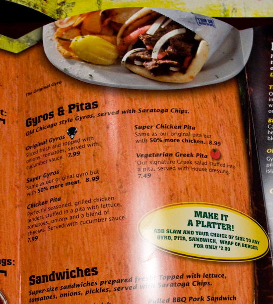 Buffalo Wings and Rings - Menu