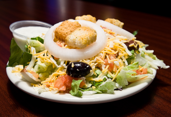 Buffalo Wings and Rings - Side Salad