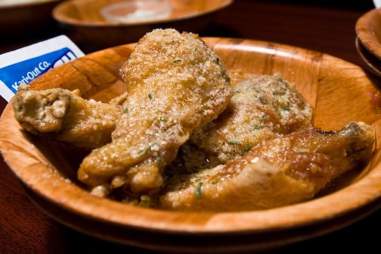 Buffalo Wings and Rings - Garlic Parmesan Chicken Wings