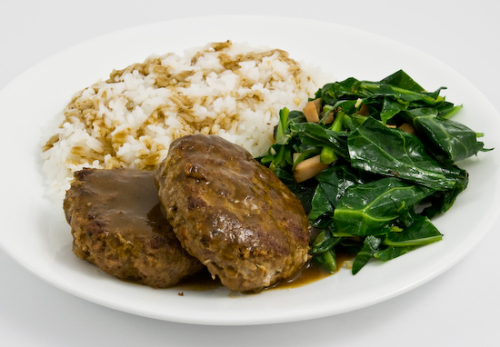 Salisbury Steak with Collard Greens