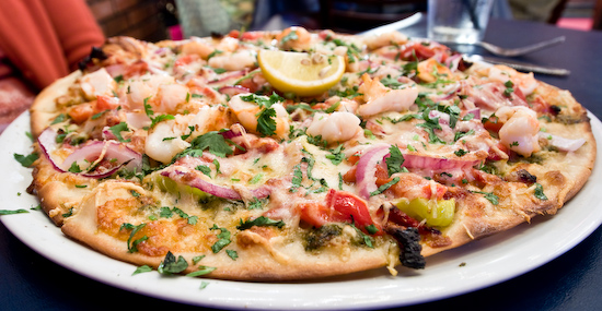 Romeo's - Grilled Shrimp Pizza
