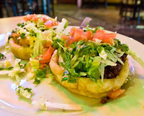 Azul Tequila - Sopes (Tinga and Chorizo)