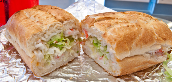 Which Wich - Crab Salad Sandwich