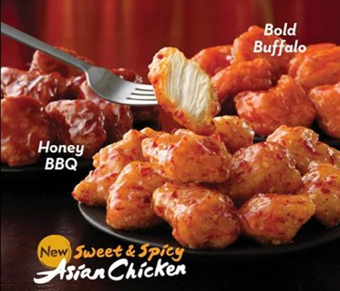 Wendy's Sweet & Spicy Asian Chicken Boneless Wings Advertisement