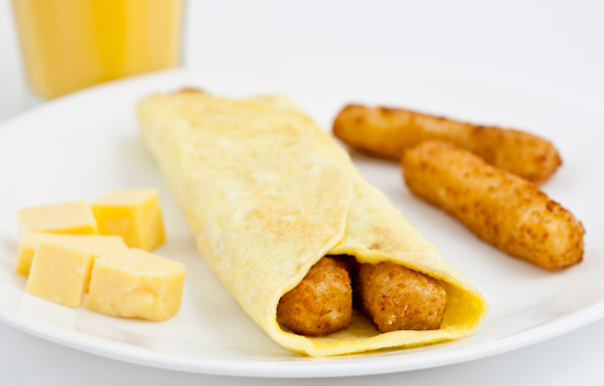 Fish Stick Omelet