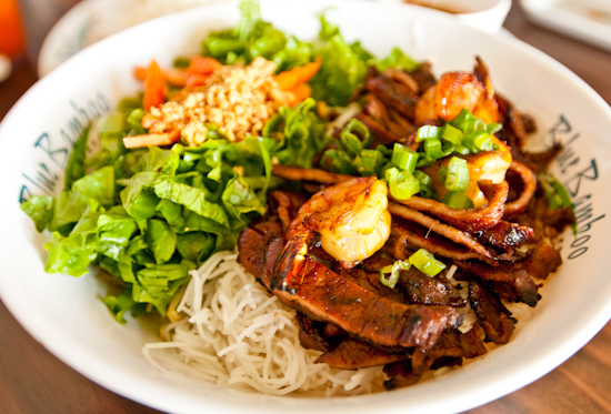 Blue Bamboo - Charcoal Shrimp and Pork Vermicelli Bowl