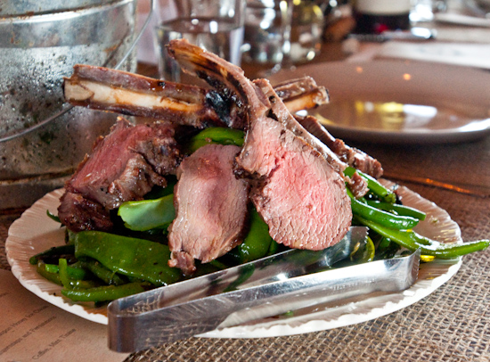 Dai Due Supper Club - Grilled Racks and Loin with Long, Green, and Romano Beans