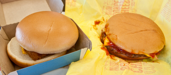 McDonald's - Filet-o-Fish, Cheeseburger
