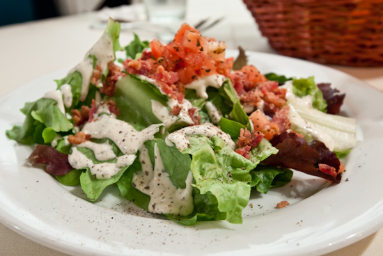 Bordeaux's - House Salad with Pesto Ranch