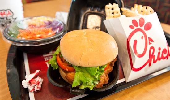 Chick-Fil-A - Deluxe Chicken Sandwich with Fries and Salad