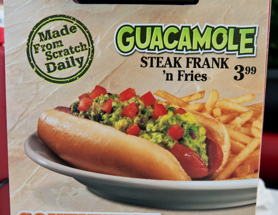 Steak 'n Shake - Guacamole Steak Frank Menu Picture