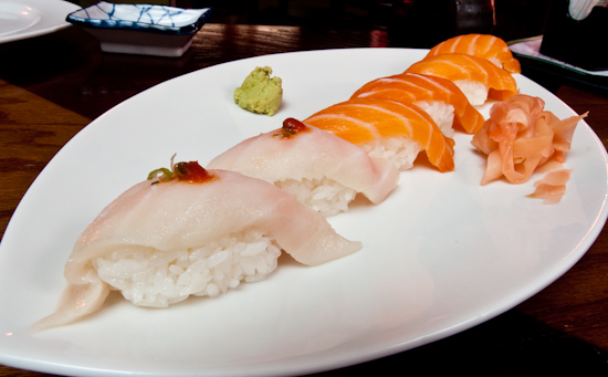 Haiku - Escolar and Sake Nigiri