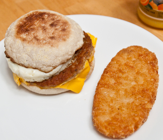 McDonald's - Sausage McMuffin with Egg & Hash Brown Patty
