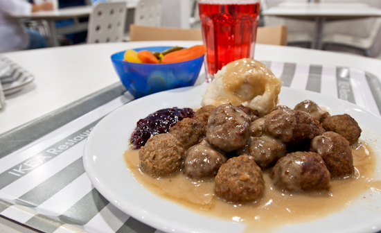 IKEA - Meatballs, mashed potatoes, gravy