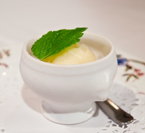 Aquarelle - Homemade Lime and Peach Sorbet