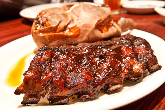Texas Land & Cattle - Baby Back Ribs and Sweet Potato