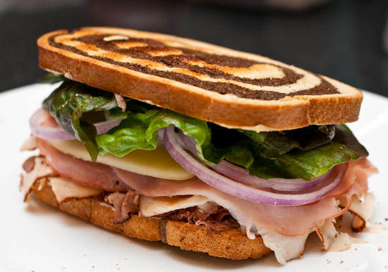 Roast Beef, Turkey, and Ham Sandwich