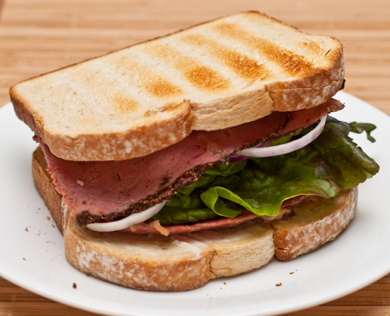 Pastrami and Corned Beef Sandwich