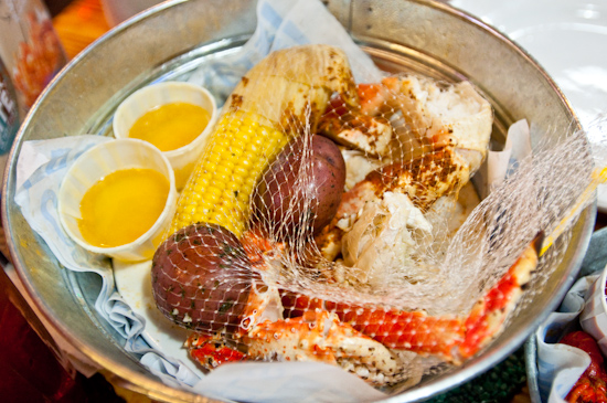 Joe's Crab Shack - King Crab with Corn and Potatoes