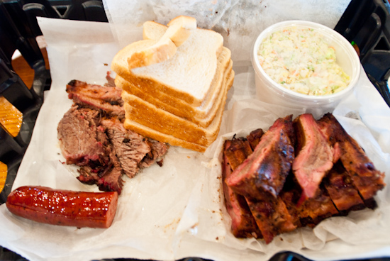 Rudy's BBQ - Moist Brisket, Sausage, and Baby Back Ribs