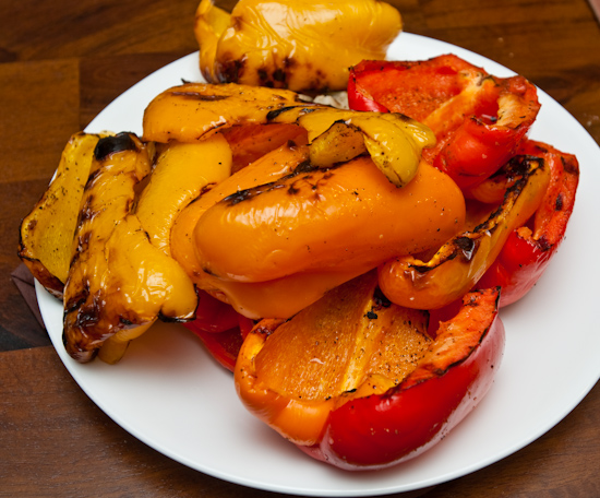 Grilled Sweet Bell Peppers