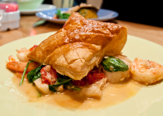 South Congress Cafe - Puff Pastry with Seafood