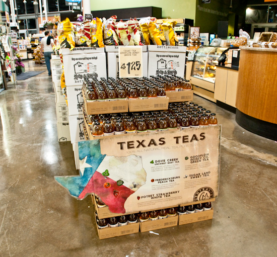 Texas Teas Display at Central Market