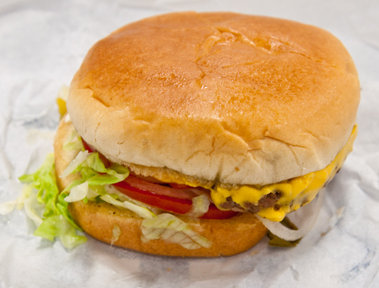 Mighty Fine Burgers - Jr. Cheeseburger with bacon